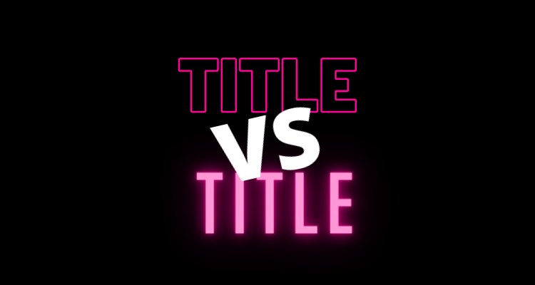 Title Split Test – New Feature